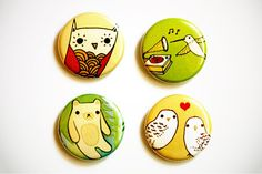 Items similar to BUTTONS - woodland button pins set, boygirlparty / badge bomb pinback buttons, woodland animals gift, animal buttons, boy girl party on Etsy Button Maker, Organic Baby Clothes, Cute Pins, Handmade Jewelry, Handmade Gifts, Pin Badges, Pin Collection, Etsy Shop, Crafty