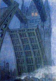 Mstislav Dobuzhinsky, Bridge in London, 1909