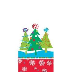 North Pole Greetings Cello Bag Christmas Tree Party Favor Treat Bags (20)