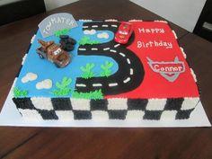 Cars sheet cake