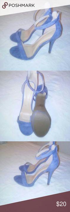 Wild Diva Heels Grayish blue never worn heels Wild Diva Shoes Heels