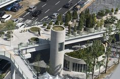 The sky garden, a former highway in Seoul is now a massive garden with over 24 000 flowers, trees and plants.