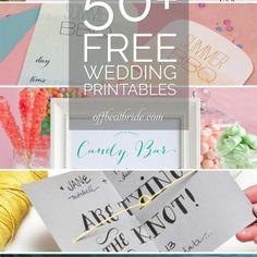 50+ MORE free wedding printables and DIY wedding downloads