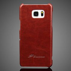Crazy Horse Grain Left and Right Open Leather Case for Samsung Galaxy Note 5 - Brown