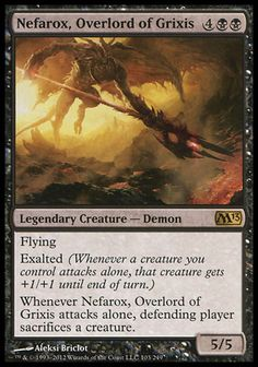 Magic the Gathering Card Reviews: Nefarox, Overlord of Grixis from Magic 2013 - #mtg