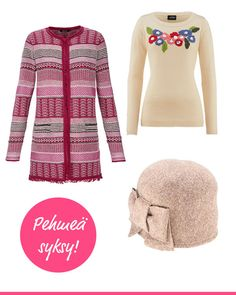 Pehmeys kuuluu syksyyn! Varustaudu kylmään pehmeällä neuleella ja lämpimällä myssyllä. Olsen, Vermont, Amy, Sweaters, Fashion, Scale Model, Moda, Fashion Styles, Sweater