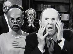 Personality revealed via masks in The Twilight Zone
