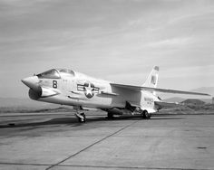 A USMC Vought F-8 Crusader. When you're out of F-8s, you're out of fighters.