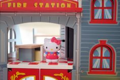 Le Toy Van fire station and Hello Kitty