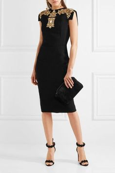 Antonio Berardi Embellished stretch-cady dress $3425