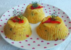 Fűszeres puliszka 🌽 Polenta, Cake Recipes, Cheesecake, Muffin, Food And Drink, Pudding, Favorite Recipes, Meals, Dinner