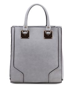 Take a look at this Stone Gray Linden Satchel on zulily today!