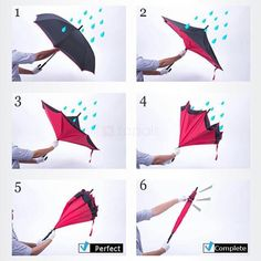 Creative Double Layer Reverse Umbrella Rain Sun Protection C-Handle - anti-UV, windproof and waterproof umbrella. Inside-out design prevents water from dripping, keeping floors and cars dry. It can stand up on its own, ideal for when you have nowhere to prop your umbrella up against.