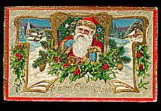 Santa Claus with Gilt 1907 Postcard