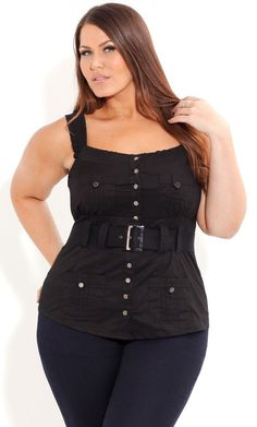 Plus Size Summer Salute Top - City Chic - City Chic