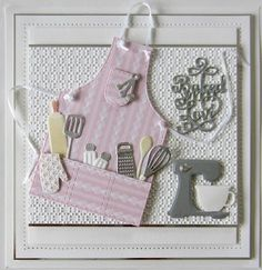 Hello there bloggers!  I have a sweet Apron card to share with you today!  I must admit, I love to bake and I know this one would be .... 11/03/2017