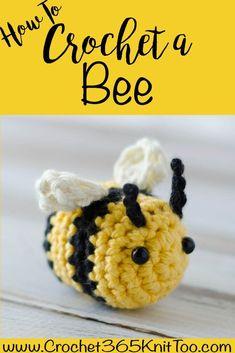 How to crochet a bee. #crochetbee #crochetbumblebee #crochetamigurumi