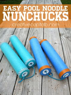 Who was I just talking with about how to make numchucks that wouldn't knock out their kiddo?  Here's a great idea!