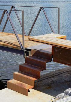 Escalier en corten pour aménager votre extérieur