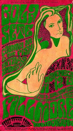 """psychedelicway: """"Country Joe & the Fish / Buffalo Springfield - 1966 Artwork : Wes Wilson """""""