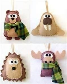 felt bear craft | ... felt crafts - bear, walrus, hedgehog, moose ... | Craft Ide