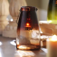 Brown Gradient Lantern   Kirklands