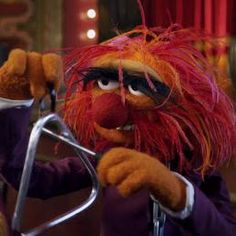 Animal from the muppets on triangle