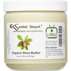 shea butter 16 oz organic unrefined in hdpe jar