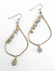 Smoky quartz & gold earrings $68 via www.boutiika.com