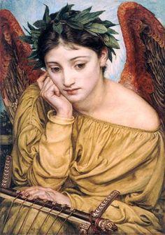 Erato, Musa de la Poesía por Eduard John Poynter