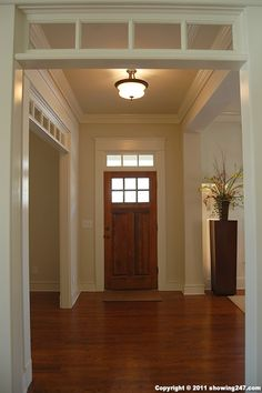 entry door with transom - craftsman style