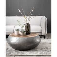 Concrete Coffee Table, Coffee Tables, Big Bang, Interior Stylist, Home Living Room, Table Furniture, Make It Simple, Interior Decorating, New Homes