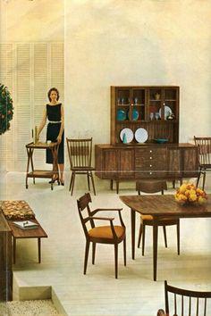 Vintage Drexel Declaration Furniture Catherine Sends Us A Gorgeous Brochure Retro Renovation Teegeebee Mid Century