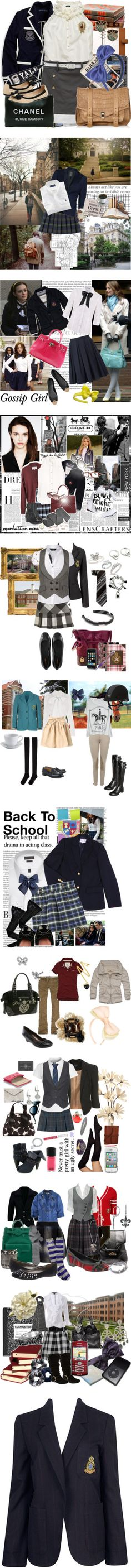"""""""Private School Uniforms"""" by taryn-scott ❤ liked on Polyvore"""