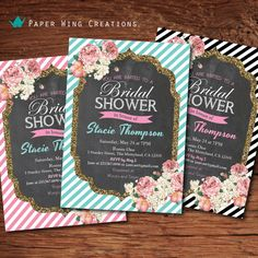 Chalkboard floral bridal shower by ThePaperWingCreation on Etsy, $15.00 @Jorden Simpson @Caitlin Keith