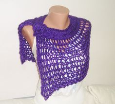 Wedding Shawl Violet Purple Wedding Capelet by earflaphats on Etsy, $42.00