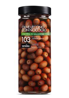 Leccino Olives with stone #Ursini, #oil