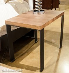 Maria Yee Fontana Metal and Wooden End Table Cute cheap and modern furniture. FurnitureLand South!