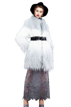 YIGELILA Women Fashion Gradient Color Long Sleeve Faux Fox Fur Coat for Winter X-Large. Brand: YIGELILA. Available sizes and colors of stylish faux fox fur outerwear excellently fit well with your demand. Other sizes we can provide custom-made services to you. Elegant stand collar and long fur style with handsome slant pockets design look stereoscopic and gorgeous as the cool model when wearing this practical and fashion fur coat. This outerwear are suitable for any kindly costume that...