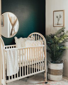 A lover of all things cactus, this cactus nursery decor we designed for our third child is what bohemian dreams are made of! Shop the post. Grey Nursery Boy, Nursery Neutral, Nursery Room, Boy Room, Nursery Decor, Boho Nursery, Western Nursery, Natural Nursery, Project Nursery