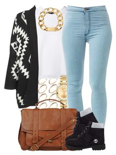 featuring ASOS, Proenza Schouler, Movado, Timberland and Michael Kors Teen Girl Outfits, Dope Outfits, Swag Outfits, Trendy Outfits, Tims Outfits, Urban Outfits, Dope Fashion, Teen Fashion, Fashion Outfits
