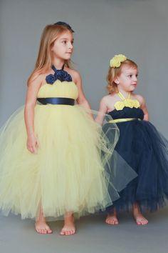 Girls tutu in yellow tulle with silver grey sash navy ribbon girls tutu in yellow tulle with silver grey sash navy ribbon tutu and yellow weddings mightylinksfo
