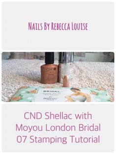 CND Shellac with Moyou London Bridal plate 07 stamping tutorial  - YouTube - Nails By Rebecca Louise