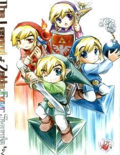 Zelda Four Swords | foro vb2 - [DD] The Legend of Zelda - Four Swords_Manga - Anime ...CUTE!!