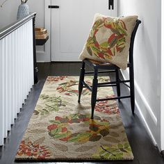 Hand-Hooked Holiday Area Rug Runner | The Company Store
