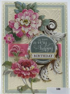 Handmade Greeting Card Birthday Anna Griffin by NineteenThings