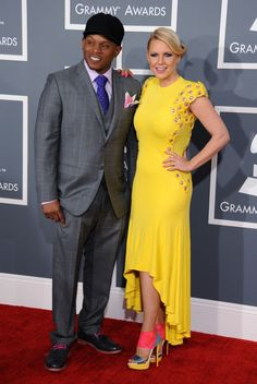 Sway Calloway and Carrie Keagan at the 55th Annual GRAMMY Awards  I feel like I shouldn't like this, but I do. I might be crazy, but I think it works