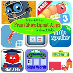 Free Educational Apps for iTunes and Android 8/18/14   Free Homeschool Deals ©