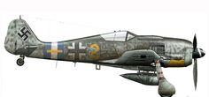 Focke Wulf Fw 190A8 6.JG300 (Y2+-) Hubert Engst WNr 682181 Lobnitz 1944-03