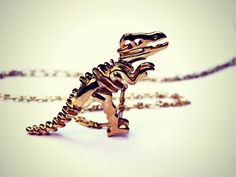 gold dinosaur necklace Trex necklace dinosaur by alapopjewelry, $22.00